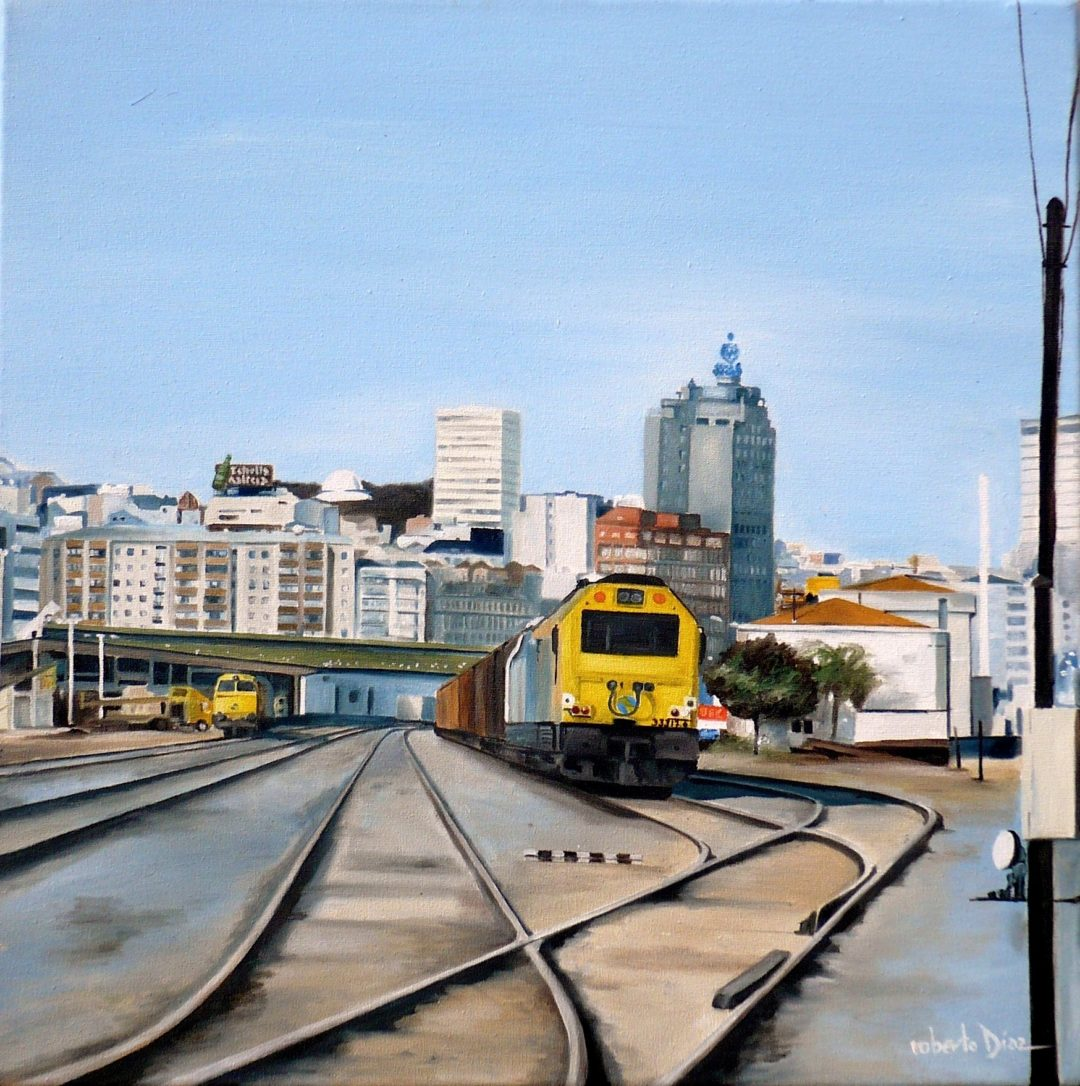 En la estación de San Diego (A Coruña)