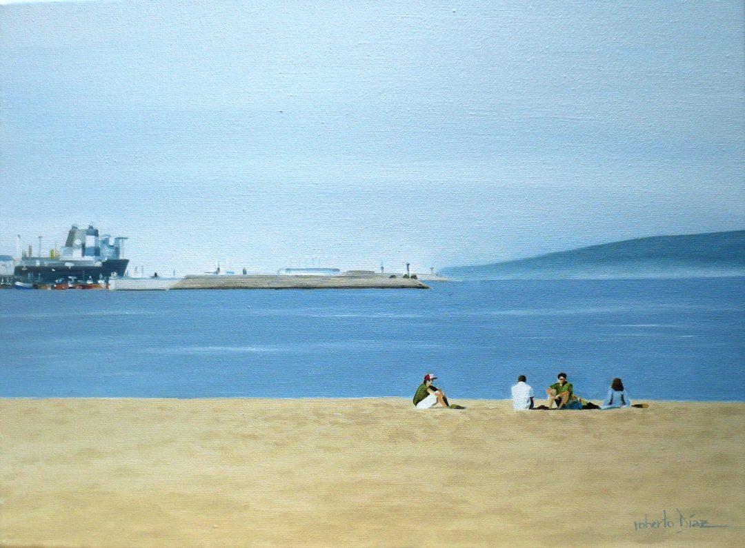 En la playa (Santa Cristina)