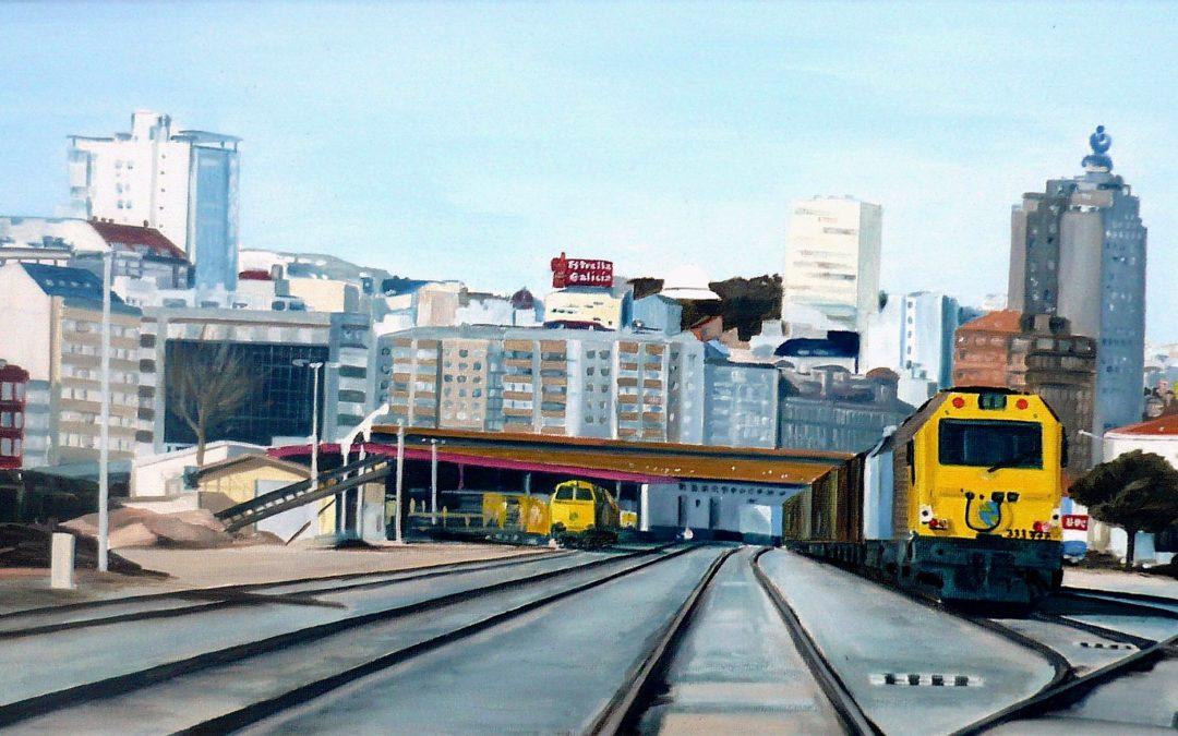 Trenes en San Diego (A Coruña)