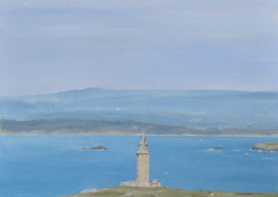 Torre de Hércules desde Monte de San Pedro